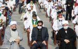 برگزاری مراسم استقبال از کاروان پیاده مشهد به کربلا